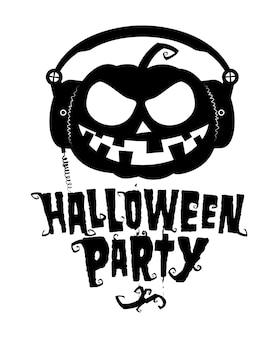 Halloween party emblem