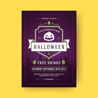 Halloween party flyer feier nacht party poster