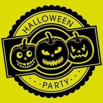 Halloween-party-grußkarte für die feier des festivals