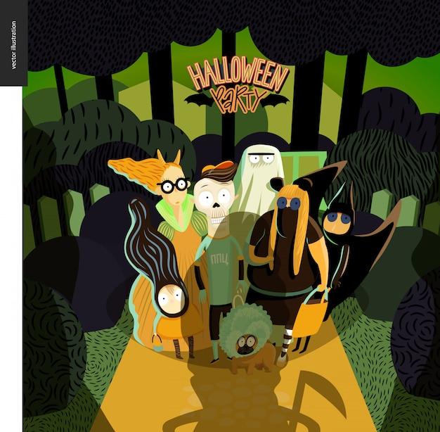 Halloween-party-grußkarte