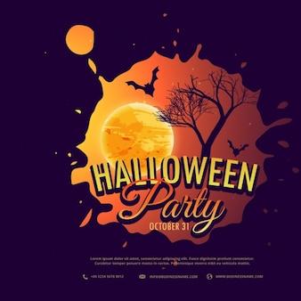 Halloween-party-hintergrund, design, illustration