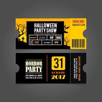 Halloween-party-karte eintritt passes.halloween party-tickets.