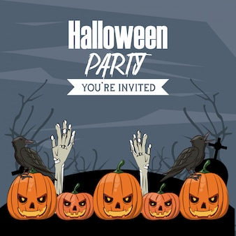 Halloween-party-karte