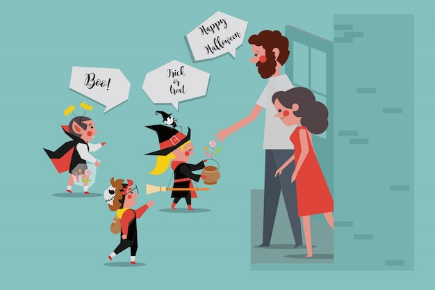 Halloween party kinder sagen trick oder leckerei
