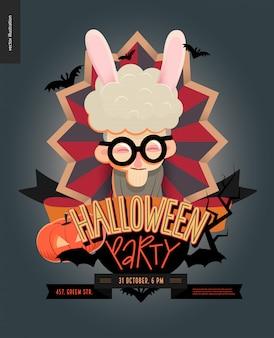 Halloween-party komponiert