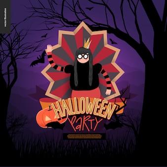 Halloween-party komponierte zeichen