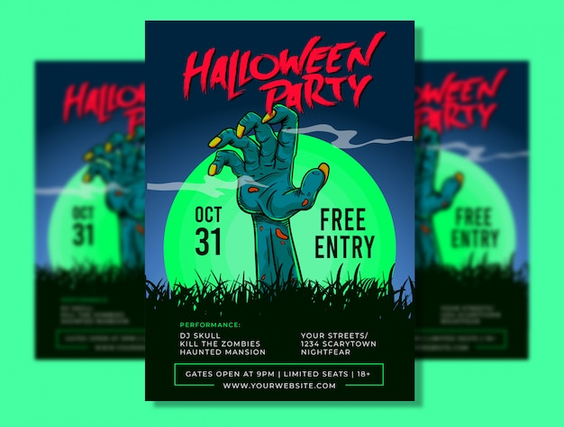 Halloween party plakat vorlage