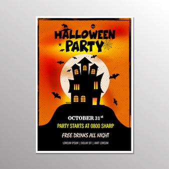Halloween-party-poster. vektor-illustration