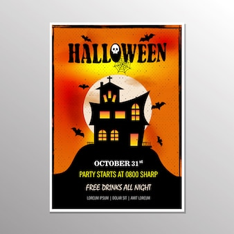 Halloween-party-poster