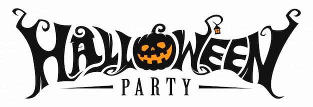 Halloween party schriftzug
