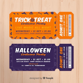 Halloween party tickets sammlung