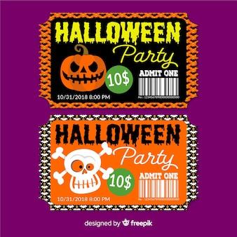 Halloween party tickets sammlung