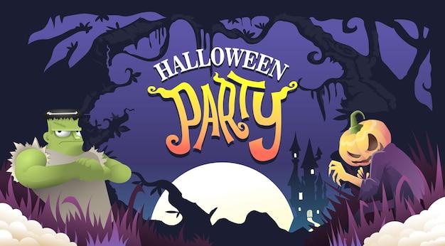 Halloween-party-vektor-illustration, halloween-hintergrund