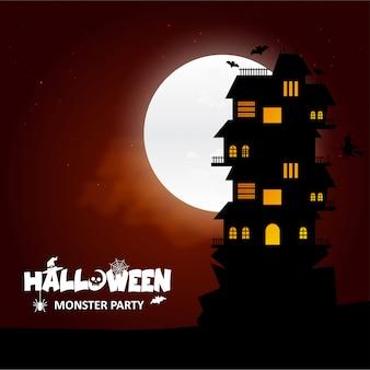 Halloween-partydesign mit kreativem designvektor