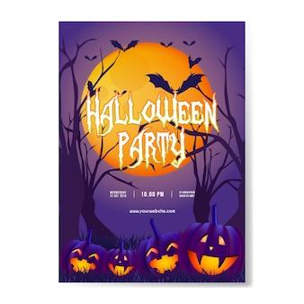 Halloween-partyhintergrund mit kürbis