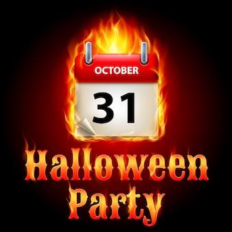 Halloween-partykalender