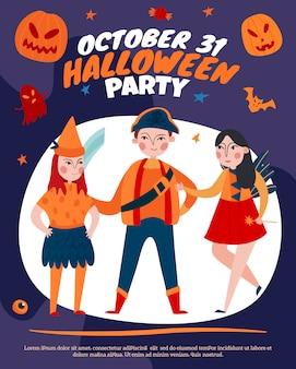 Halloween-partyplakat