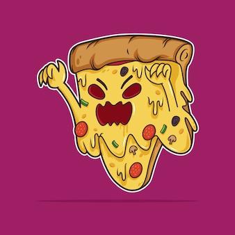 Halloween pizza monster