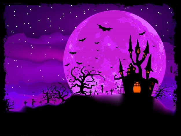 Halloween-plakat mit zombie-hintergrund. datei enthalten