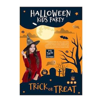 Halloween-plakatkonzept