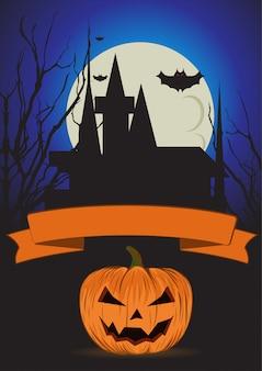 Halloween-plakatschablone