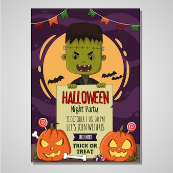 Halloween poster kinder