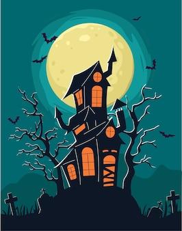 Halloween-poster und illustration