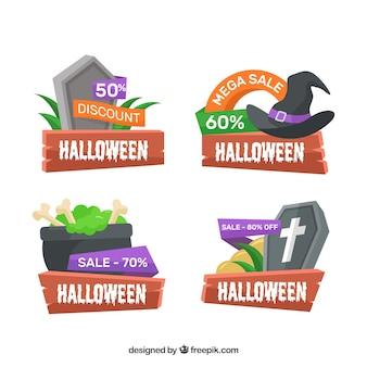 Halloween-rabatt-abzeichen