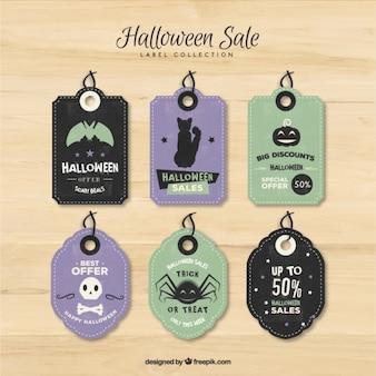 Halloween rabatte label collection