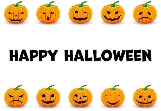 Halloween-rahmen für ihren text mit traditionellen attributen