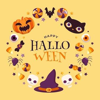 Halloween rahmenkonzept