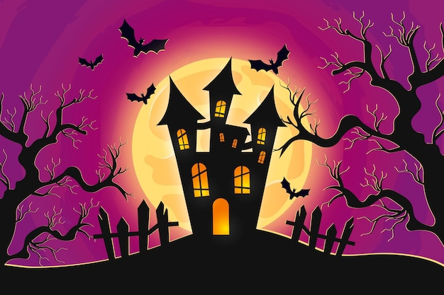 Halloween realistisches tapetenkonzept