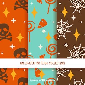 Halloween-retro-muster-pack