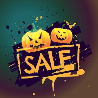 Halloween saisonale verkaufsangebot hintergrund