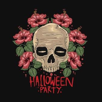 Halloween-schädel-party
