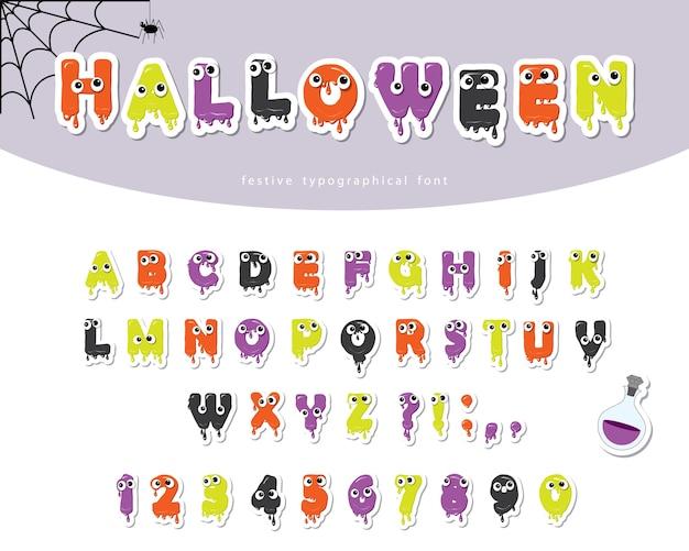 Halloween schleimige schrift für kinder