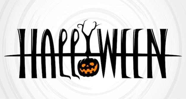 Halloween schriftzug banner