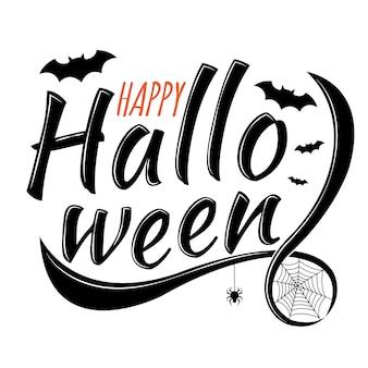 Halloween-schriftzug