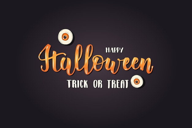 Halloween schriftzugkarte -