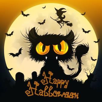 Halloween schwarze katze