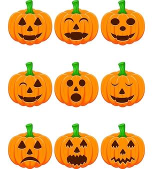 Halloween-Set mit Kürbissen