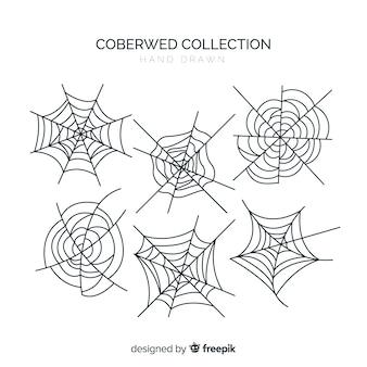 Halloween-spinnennetz collectio
