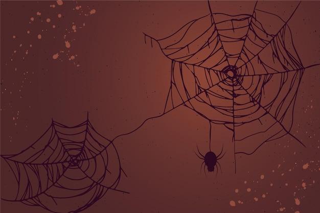 Halloween spinnennetz tapete