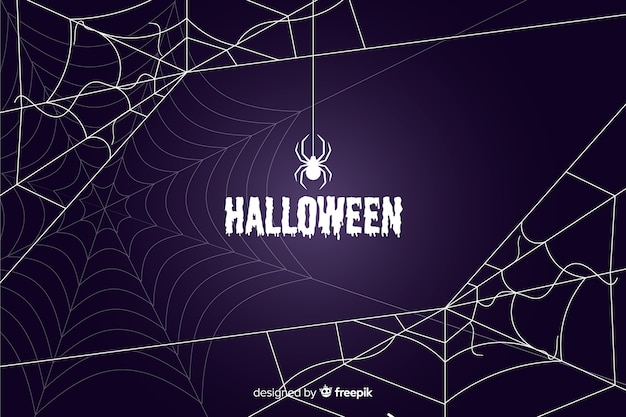 Halloween-spinnennetzhintergrund