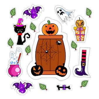 Halloween sticker patches set