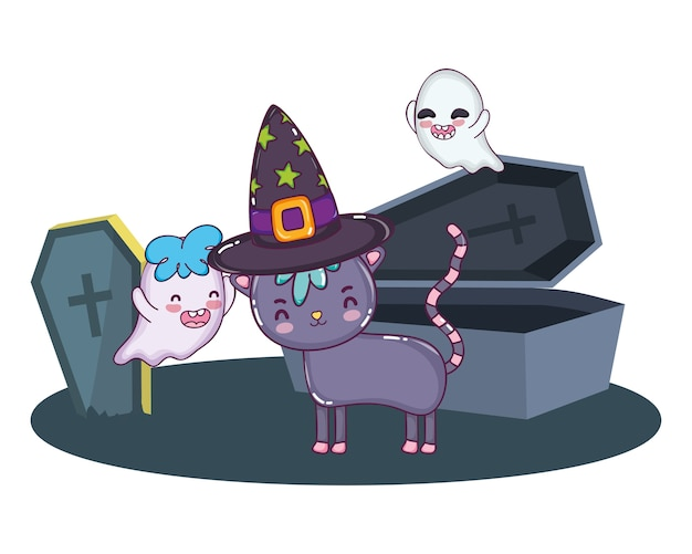 Halloween süße cartoons