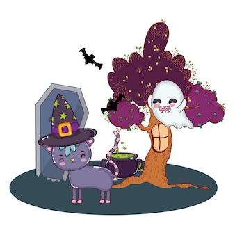 Halloween süße cartoons