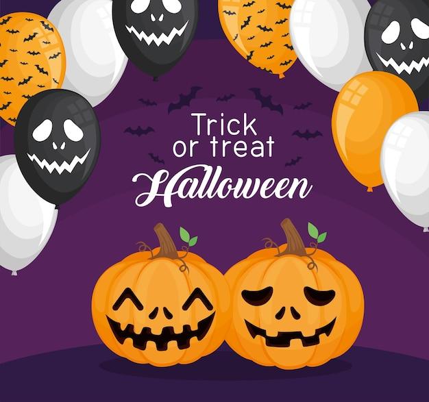 Halloween süßes oder saures banner