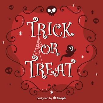 Halloween süßes oder saures kalligraphie