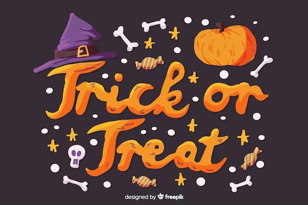 Halloween süßes oder saures-konzept
